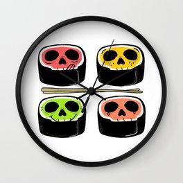 Yummy Kawaii Skull Sushi - What's your flavor? Wall Clock
