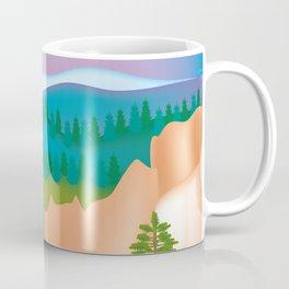 Bryce Canyon National Park, Utah - Skyline Illustration by Loose Petals Coffee Mug