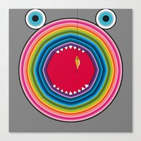 trout Canvas Prints featuring Rainbow Trout by Gabriel J Galvan