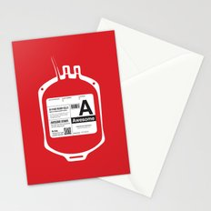 My Blood Type is A, for Awesome! Stationery Cards