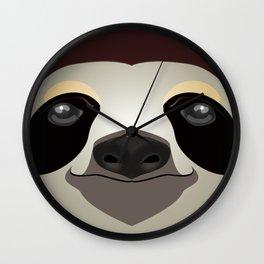 2D sloth Wall Clock