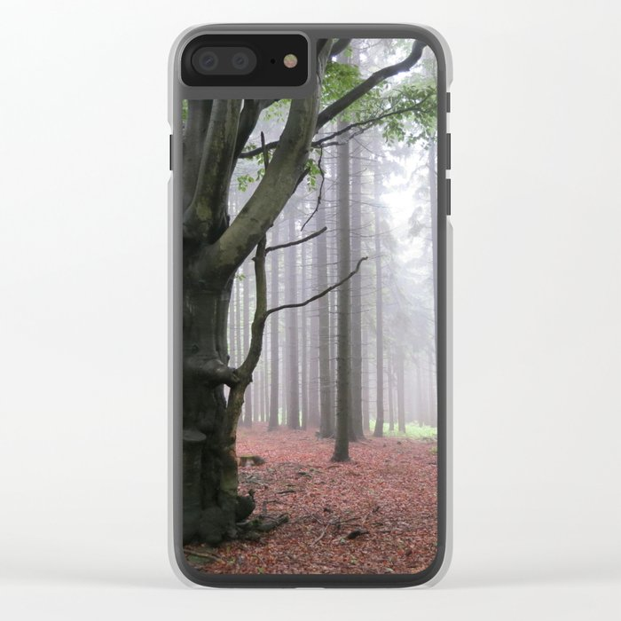 Smoke woods Clear iPhone Case