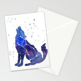 Galaxy Wolf Lupus Constellation Stationery Cards