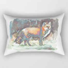 (Chromatic) Just Starting to Snow Rectangular Pillow