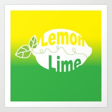 Lemon Lime Fusion Art Print