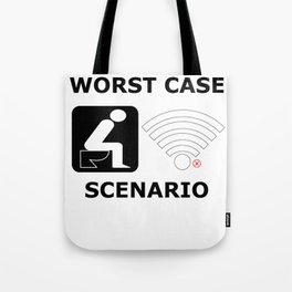 WLAN toilet offline humor funny gift Tote Bag
