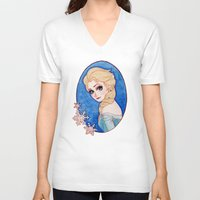 frozen elsa V-neck T-shirts featuring Elsa - Frozen by Naineuh
