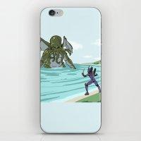 neon genesis evangelion iPhone & iPod Skins featuring Neon Genesis Elder God by CaptainSunshine