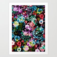 Multicolor Floral Pattern Art Print