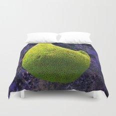 Lime green sea creature Duvet Cover