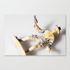 The Little Cowboy, fallen Canvas Print