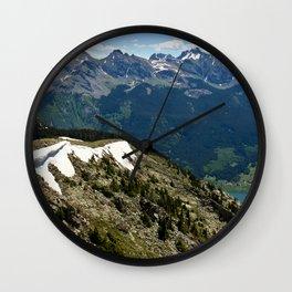 Mountain cornice with snow Wall Clock