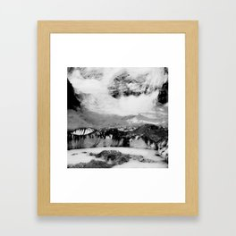 Wanderlust And Blurred Vision Before Summit Framed Art Print