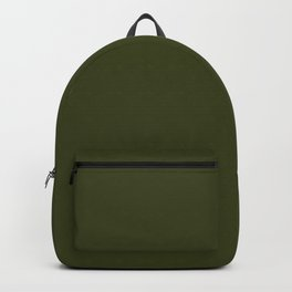 CHIVE dark green solid color Backpack