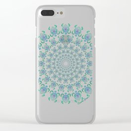 Tribal Turtle Tunnel Clear iPhone Case