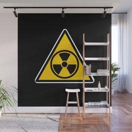 radioactive warning triangle Wall Mural