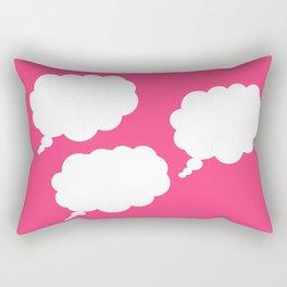 pink thoughts Rectangular Pillow