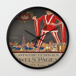 Vintage poster - Antwerp Wall Clock
