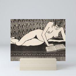 Nude Reading by Samuel Jessurun de Mesquita Mini Art Print