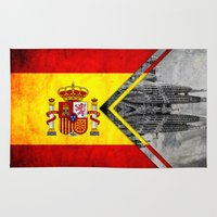 spain Area & Throw Rugs featuring Flags - Spain by Ale Ibanez
