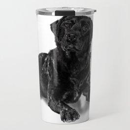 Black Lab B&W Travel Mug