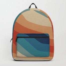 Retro 70s Stripe Colorful Rainbow II Backpack