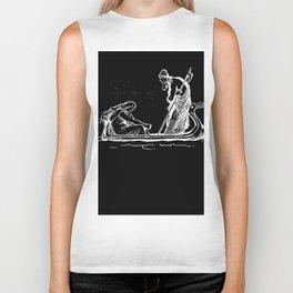 Norse Myth Frigg and Odin Sailing In Fensalir Biker Tank