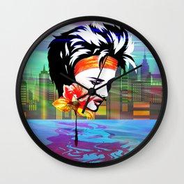 Metropolis Nostalgia Vaporwave Art Wall Clock