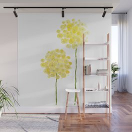 two abstract dandelions watercolor Wall Mural
