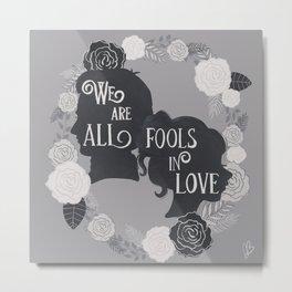 Fools in Love-Pride and Prejudice Metal Print