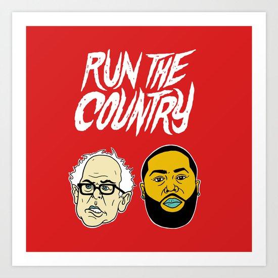 Run The Country Art Print