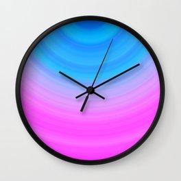 Pink & Blue Semicircles Wall Clock