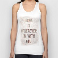 ohio Tank Tops featuring HOME (Ohio) by Madison Daniels