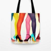legs Tote Bags featuring Legs by Wanker & Wanker