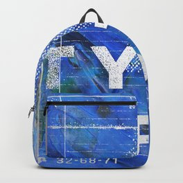 Abstract Texture Type Deep Blue Impressionism Backpack