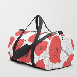 RED POPPIES Duffle Bag