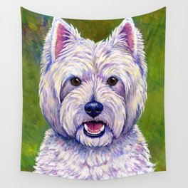 Colorful West Highland White Terrier Dog Wall Tapestry