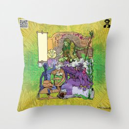 Bloom: An Awakening - The Holy Divinity Marius Janus Gifting the Bloom Shard Throw Pillow