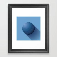 Flat Planet - #3 Neptune Framed Art Print