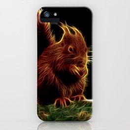 Sinister Squirrel Fractal iPhone Case