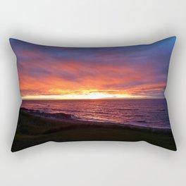 Beach Sunset on the Sea Rectangular Pillow