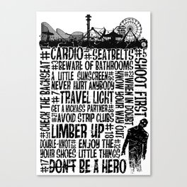 The Zombieland Rules Canvas Print