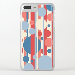 Stripes and circles color mode #3 Clear iPhone Case