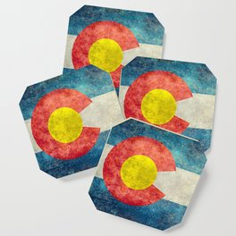Colorado State flag, Vintage retro style Coaster