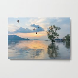 Hot air balloons over Phuket Metal Print
