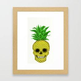 Skull Pineapple Framed Art Print