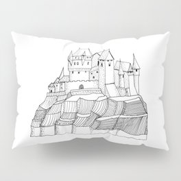 Castle on the cliff . illustration ( https://society6.com/vickonskey/collection ) Pillow Sham