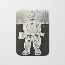 The Lumberjack B&W Bath Mat