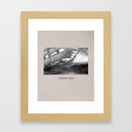 Stormy Seas Framed Art Print