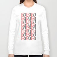 maori Long Sleeve T-shirts featuring Maori Kowhaiwhai Distressed Pattern by mailboxdisco